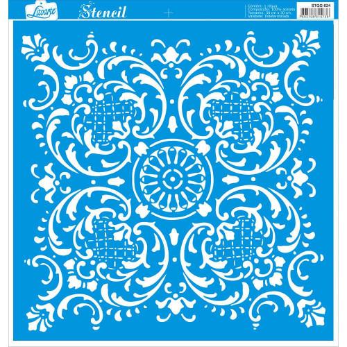 Stencil Azulejo de arabesco - 30x30 cm