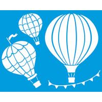 Stencil Balões de ar quente - 20x25 cm