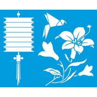 Stencil Lanterna japonesa, origami - 20x25 cm