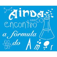 Stencil Frase de Química de amor - 20x25 cm