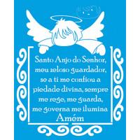 Stencil Santo Anjo - Sobreposição - 20x2..