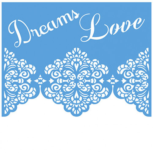 Stencil bicos de renda dream love 20x20