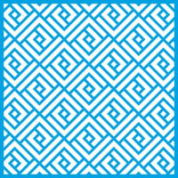 Stencil Estampa Geométrica Quadrangular - 20x20 cm