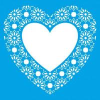 Stencil Coração rendado - 20x20 cm