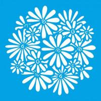 Stencil Estampa de Margaridas - 20x20cm