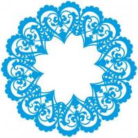 Stencil Mandala de Corações - 20x20 cm
