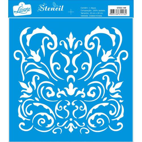 Stencil Arabescos - 20x20 cm