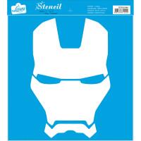 Stencil Super herói de armadura - 25x25 ..