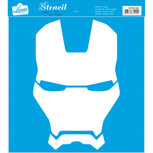 Stencil Super herói de armadura - 25x25 cm