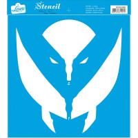 Stencil Super herói Garras - Sobreposição - 25x25 cm