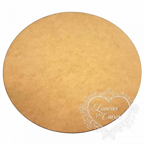 Placa Redonda em MDF - 35x35 cm