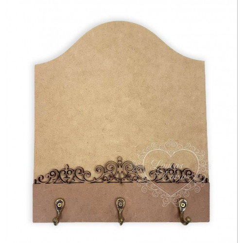 Porta chave Arabesco Reto Super Renda 6mm 18x20,5 cm