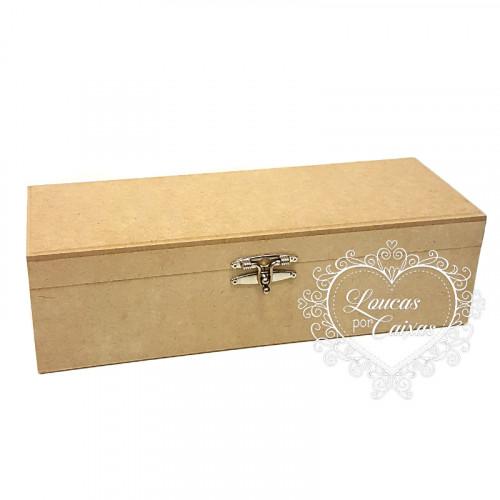 Caixa de vinho lisa 13x36x11 cm