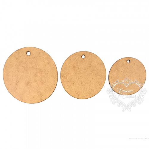 Kit de Tags Redondas - 3 tamanhos
