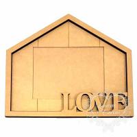 Porta Retrato Casa Love 34,9x29,9 cm..