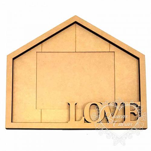 Porta Retrato Casa Love 34,9x29,9 cm