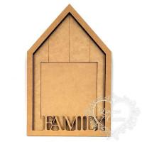 Porta Retrato Casa Family 22x34,8 cm..