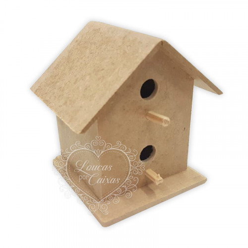 Casa Passarinho 2 furos mini - 9,5x7,8x9,7