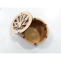 Caixa redonda laser - Espírito Santo - 10 cm