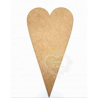 Placa Coração Comprido - 15 x 27,5 cm - ..