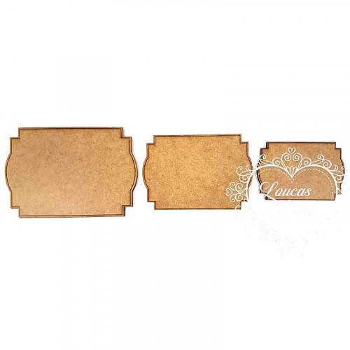 Kit Placas e Moldura Trabalhadas - em MDF 3mm - 3 tamanhos