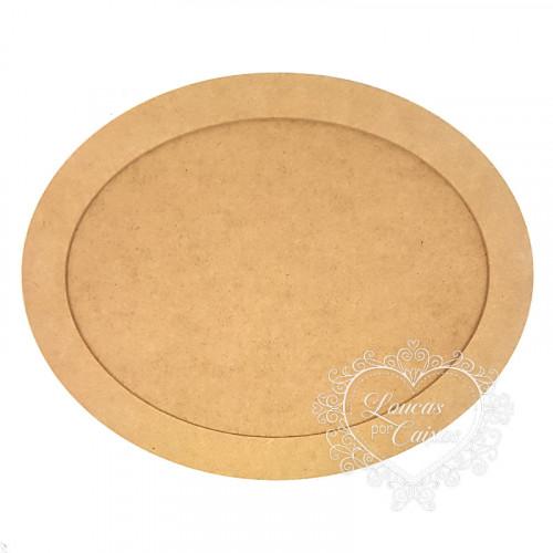 Quadro com Moldura Oval G 40 cm