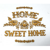 Home sweet home - kit com arabescos e texto