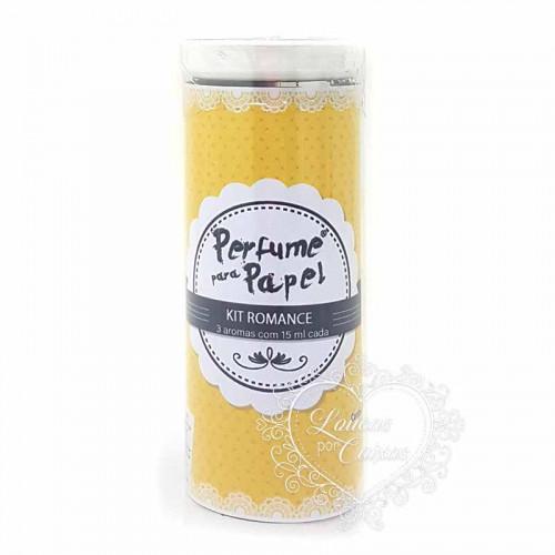 Perfume para Papel com 3 aromas - kit Romance