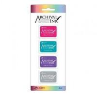 Carimbeira Archival ink - 4 mini Pad - cores vibrantes