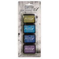 Carimbeira Archival ink - Tim holtz  4 mini Pad cores frias
