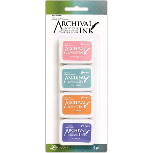 Carimbeira Archival ink - 4 mini Pad - Wendy Vecchi