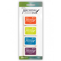 Carimbeira Archival ink - 4 mini Pad - W..