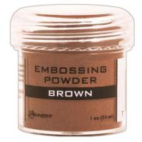 Pó para embossing Brown - marrom..