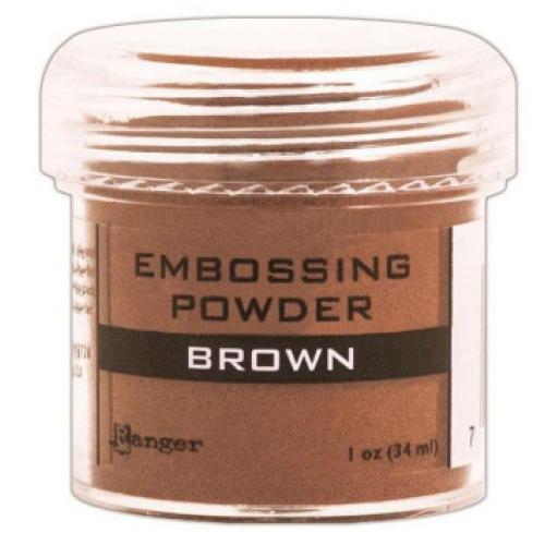 Pó para embossing Brown - marrom