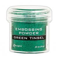 Pó para embossing Green Tinsel (com glitter)