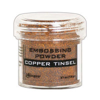 Pó para embossing Copper Tinsel (com glitter)