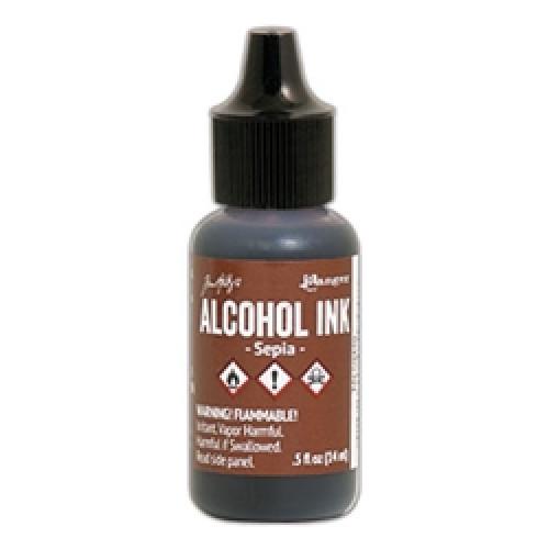Tinta alcool - Sepia