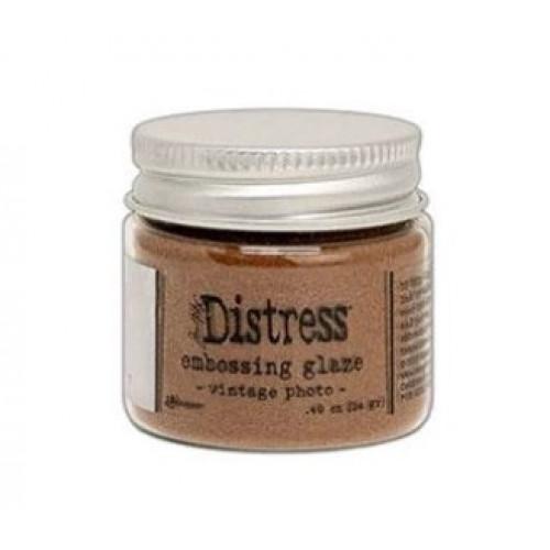Pó para embossing Distress Glaze - Vintage Photo