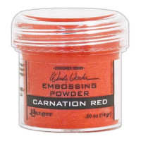 Pó para embossing CARNATION RED..