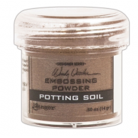 Pó para embossing Potting Soil..