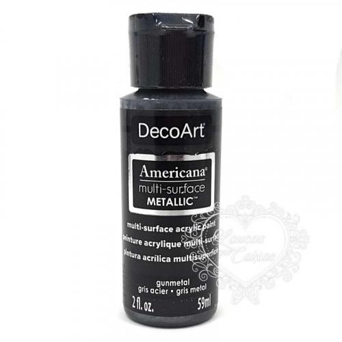 Tinta Decoart Americana Multi-Surface Metalica Gunmetal