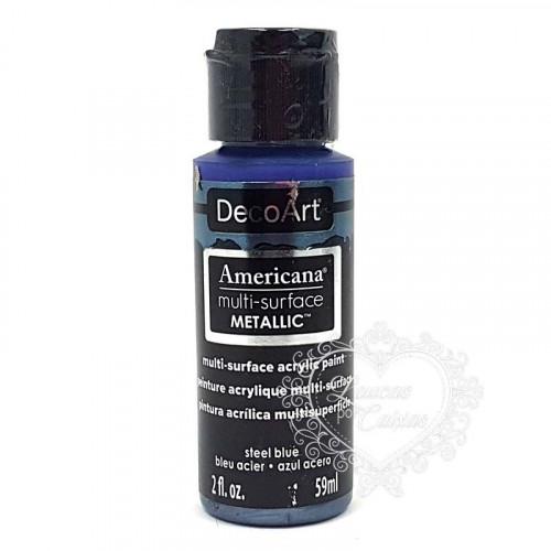Tinta Decoart Americana Multi-Surface Metalica Stell Blue