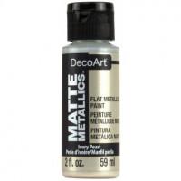 Tinta Decoart Matte Metallics - Ivory Pearl