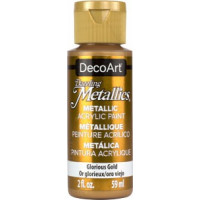 tinta decoart dazzaling metalica cor glorious gold