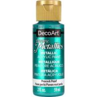 Tinta Decoart Dazzling Metálica cor Peacock Pearl