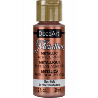 tinta decoart dazzling metalica rose gold