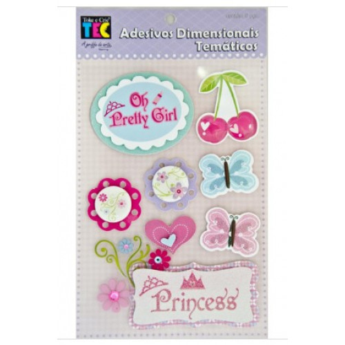 Adesivo Dimensional Temático Princesa