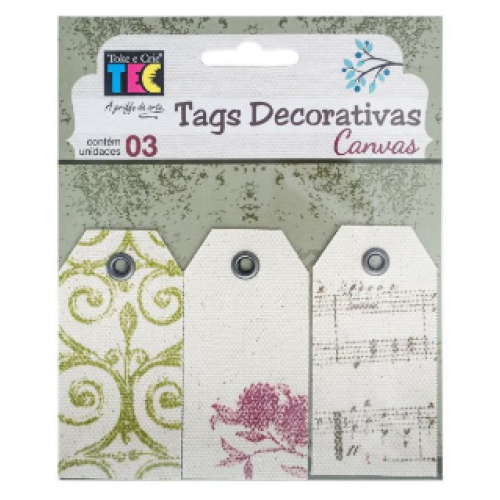 Tags Decorativas Canvas Classico