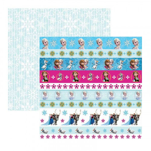 papel 180g dupla face frozen - 30.5 x 30.5
