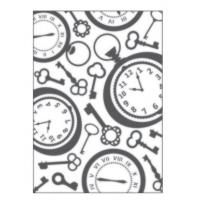 Placa para Relevo 2D - Relógio Vintage II